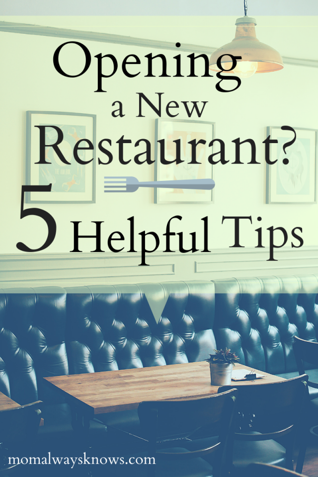 how to open a new restaurant