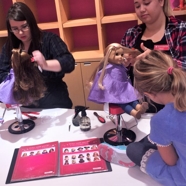 hair styles at american girl spa