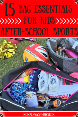 15 Bag Essentials for Kids After-School Sports