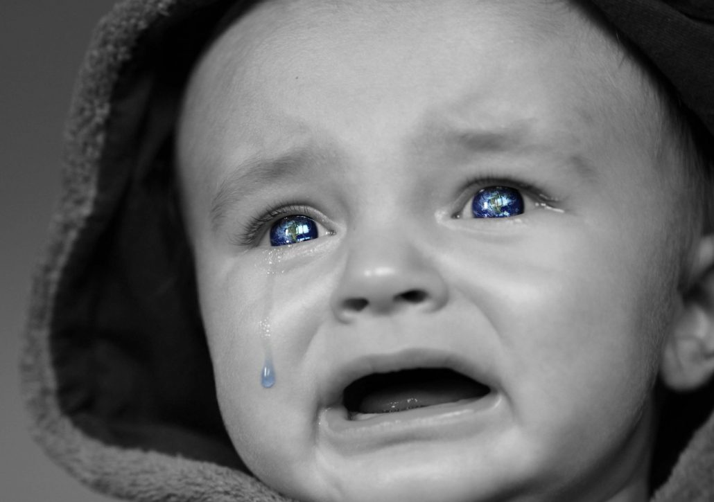 baby crying hard