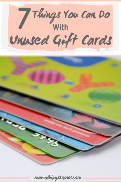 7 Things You Can Do With Unused Gift Cards