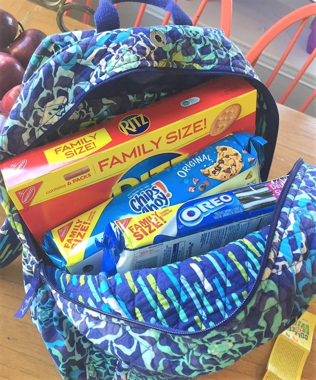 family size snacks to go