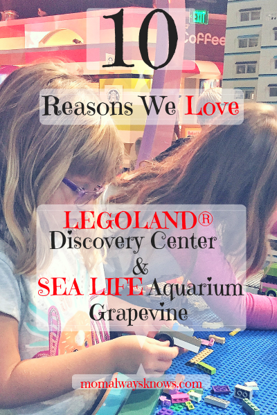 10 Reasons We Love LEGOLAND® Discovery Center Dallas Fort Worth and SEA LIFE Aquarium Grapevine