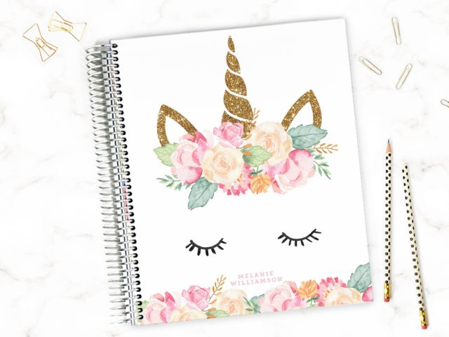 cute unicorn planner