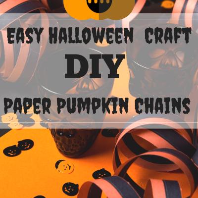 Easy Kids Halloween Decor Craft- DIY Paper Pumpkin Chains