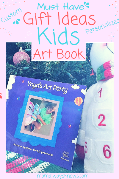 Must Have Gift Ideas- Personalized Custom Kids ArtBook