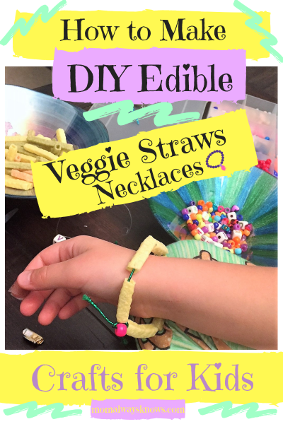 Crafts for Kids: How to Make DIY Edible Veggie Straws Necklaces