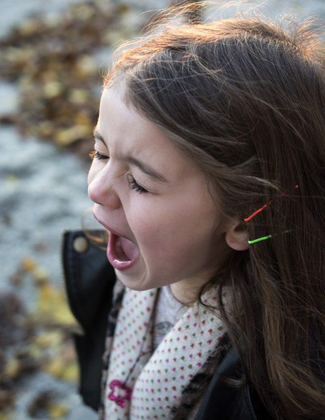 screaming little girl