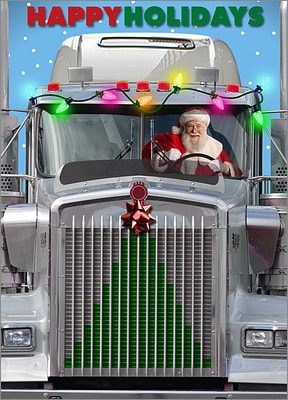 trucker christmas cards