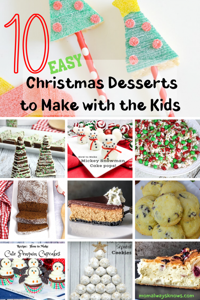 easy Christmas desserts for kids