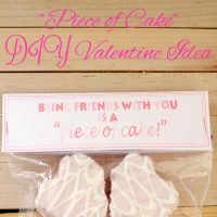 """Piece of Cake"" DIY Valentine"