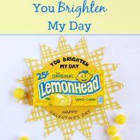 You Brighten My Day Valentine Card