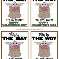 Free Printable Baby Yoda Valentines
