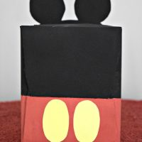 DIY Mickey Mouse Valentine's Day Mailbox