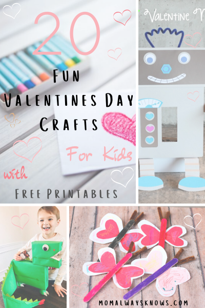 20 Fun Valentines Day Crafts for Kids with Free Printables