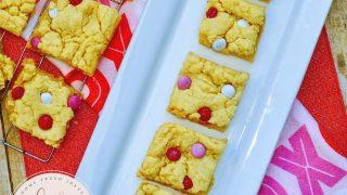 Valentine's Day Cake Mix Cookie Bars Recipe