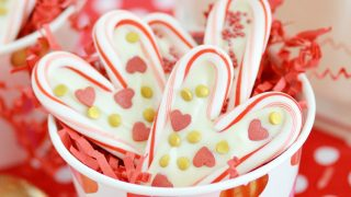 Candy Cane Hearts for Valentine's Day