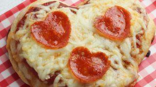 Kids Party Food! BEST Heart Pizza Recipe – 4 Ingredient – Easy – Cheap Ideas